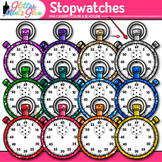Rainbow Stopwatch Clip Art {Measurement Tools for Math and