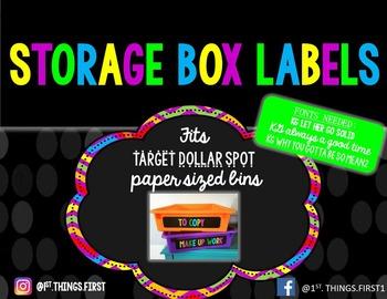 Storage Bin Lables