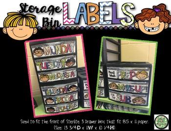 Storage Drawer Labels
