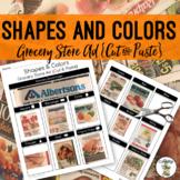 Store Ad Shapes & Colors {Cut&Paste} - Life Skills Weekly Circular Store Ad