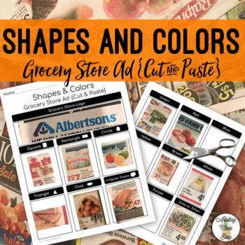Store Ad Shapes & Colors {Cut&Paste} - Life Skills Weekly Circular Store Ad