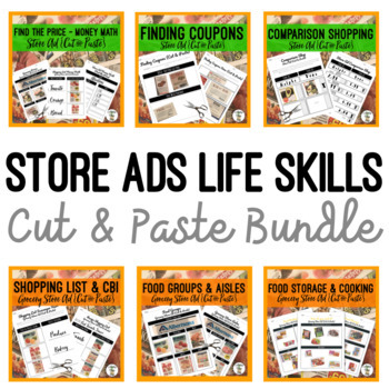 Store Ads {Cut & Paste} BUNDLE - Life Skills Weekly Circular Money