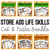 Grocery Store Ads Life Skills BUNDLE -  {Cut & Paste} Food Money Math