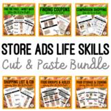 Store Ads Life Skills {Cut & Paste} Activities BUNDLE