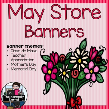 May Store Banners {4 Pre-made Banners}