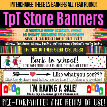 Store Banners for General Use
