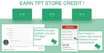 TpT Store Credit Instructions: Infographic