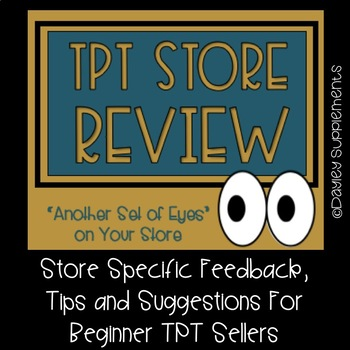 Store Specific Feedback, Tips & Suggestions for Beginner TPT Sellers