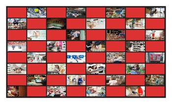 Stores and Shops Checker Board Game