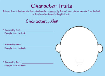 Stories Julian Tells Comprehension Chapter Questions