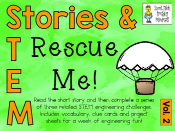 Stories & STEM ~ Rescue Me  ~ 3 STEM Challenges using Parachutes