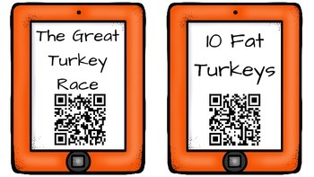 Listening Center: Stories about Thanksgiving QR Code Read Alouds