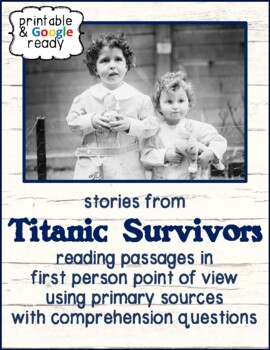 Stories from Titanic Survivors: Analyzing First Person Poi