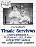 Analyzing First Person Point of View with Stories from Titanic Survivors