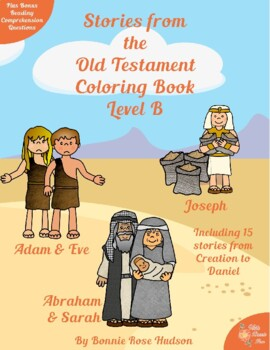 Stories From The Old Testament Coloring Book Level B