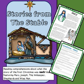 Stories from the Stable - Five Christmas reading comprehensions