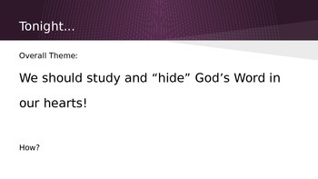 Storing Up God's Word