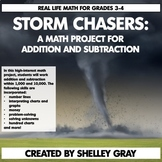 Storm Chasers Math Project   Addition/Subtraction to 10,000   Distance Learning