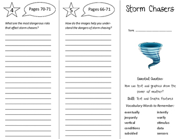 Storm Chasers Trifold - Journeys 6th Grade Unit 6 Week 5 (
