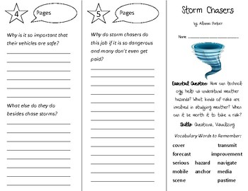 Storm Chasers Trifold - Open Court 3rd Grade Unit 2 Lesson 1
