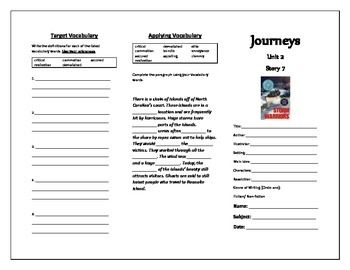Journeys Grade 5 Trifold (Storm Warriors)