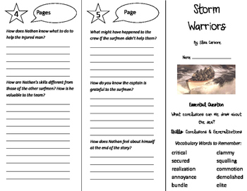 Storm Warriors Trifold - Journeys 5th Grade Unit 2 Week 4 (2011)