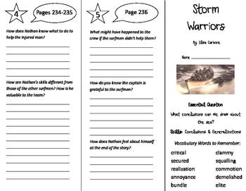 Storm Warriors Trifold - Journeys 5th Grade Unit 2 Week 4 (2011)