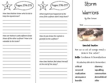 Storm Warriors Trifold - Journeys 5th Grade Unit 2 Week 4
