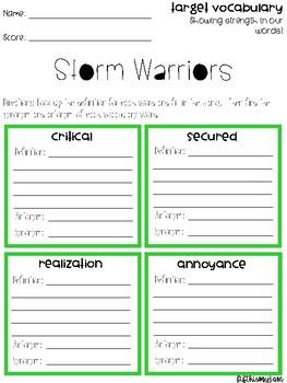Storm Warriors Vocabulary Grids