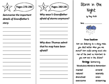 Storm in the Night Trifold - Imagine It 3rd Grade Unit 6 Week 2