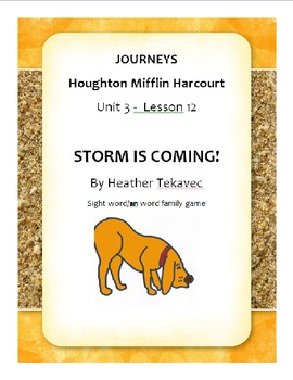 Storm is Coming - A Phonics and Word Recognition Activity