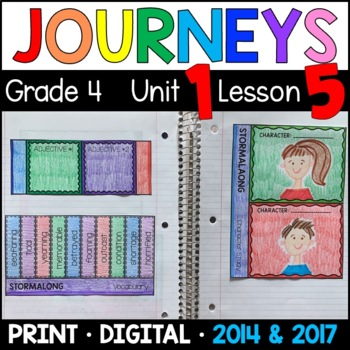 Journeys 4th Grade Lesson 5: Stormalong (Supplemental & Interactive pages)