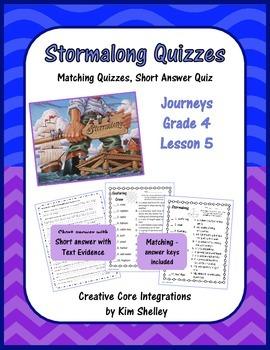 Stormalong Journeys Lesson 5 Quizzes