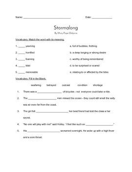 """""""Stormalong"""" QUIZ (Journeys grade 4 reader)"""