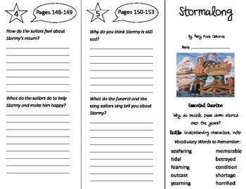 Stormalong Trifold - Journeys 4th Grade Unit 1 Week 5 (2014, 2017 Common Core)