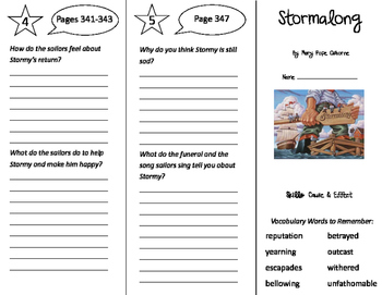 Stormalong Trifold - Storytown 5th Grade Unit 3 Week 3
