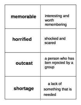 Stormalong Vocabulary Flash Cards Journeys 2014 CC Edition
