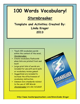 Stormbreaker!  Teach Vocabulary with 100 Words Flashcards!