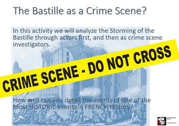 Honors World History - Storming of the Bastille  Reading + Creative Writing