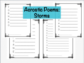 Storms Acrostic Poems Pack
