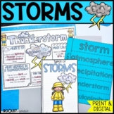 Types of Storms: thunderstorm, tornado, hurricane / Distan