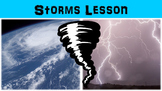 Storms Lesson with Power Point, Worksheet, and Review Questions