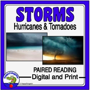 Weather Paired Reading Hurricanes Vs Tornadoes With Storms Venn