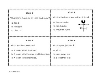 Storms, Weather Conditions, and Weather Tools Scoot Game