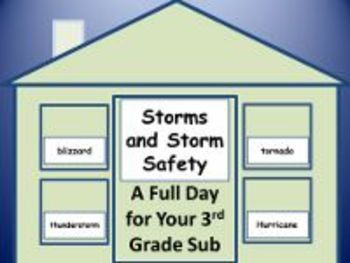 Storms and Storm Safety - Common Core Aligned Full Day For Your Sub