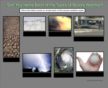 Storms and other Severe Weather - A Sixth Grade Smartboard Introduction