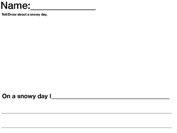 Stormy Day Writing Template