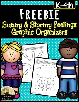 Feelings Graphic Organizers: What Makes Me Feel Sad, Happy, etc.