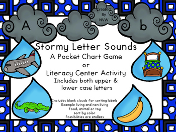 Stormy Letter Sounds or Sorting Activity