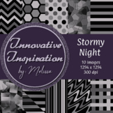 Stormy Night: Digital Papers {Innovative Inspiration}